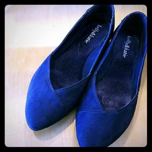 Kelly & Katie Blue Suede Flats